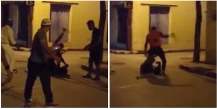 Graban riña callejera en Cuba: Joven en estado crítico tras recibir al menos siete puñaladas