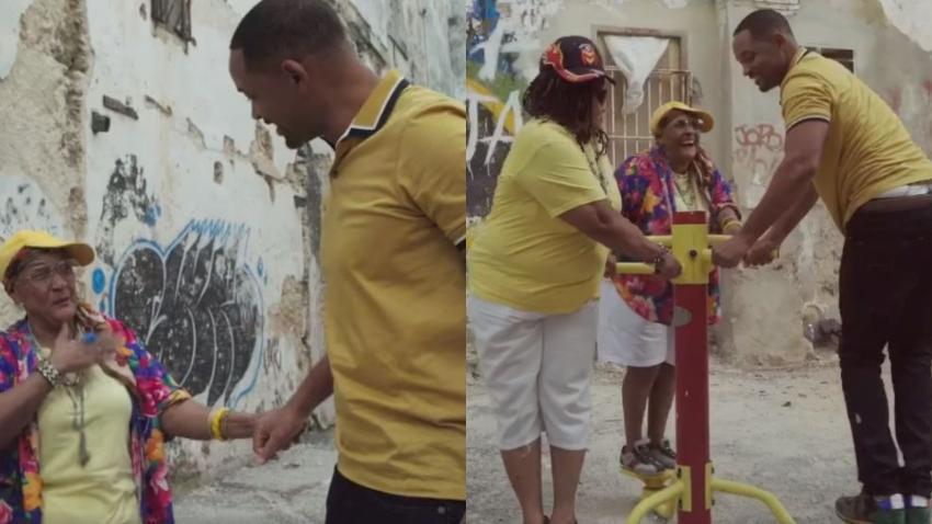 Will Smith sale a bailar en La Habana con abuelas raperas