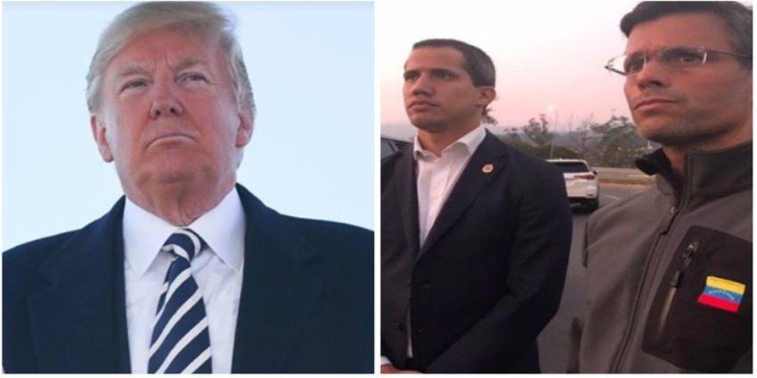 Trump ha sido informado y se mantiene atento al desarrollo de los acontecimientos en Venezuela