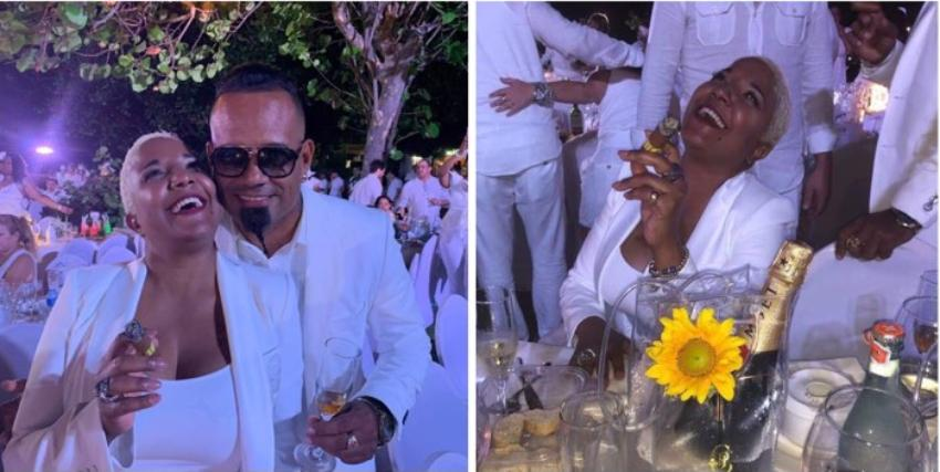 """Haila María Mompié y su esposo, invitados especiales en el lujoso evento """"Le Dîner en Blanc"""""""