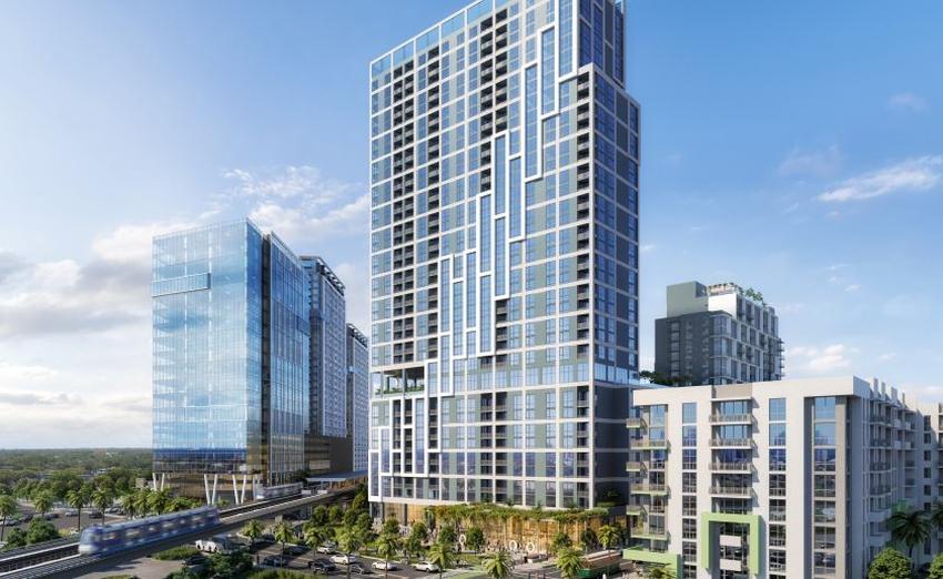 Complejo residencial y comercial con su propia estación de Metrorail comienza construcción en la US1 en Miami