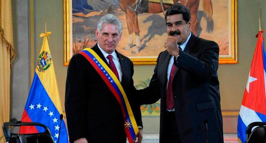 """Gobierno de Cuba asegura que el apoyo a Maduro """"no es negociable"""" a pesar de las sanciones"""