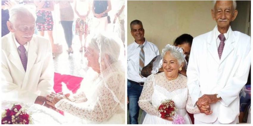 Nunca es tarde para el amor: Se casan dos abuelitos octogenarios en Cuba