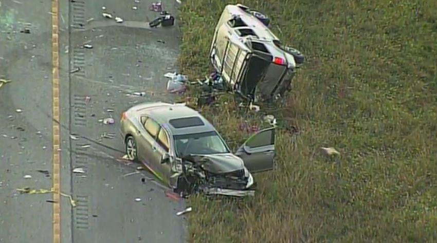 Cierran la I-75 en dirección oeste tras accidente múltiple; se reporta un fallecido y varios heridos