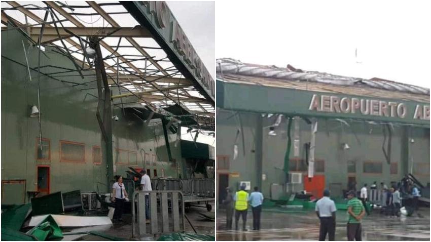 Tormenta intensa destruye el aeropuerto de Santa Clara