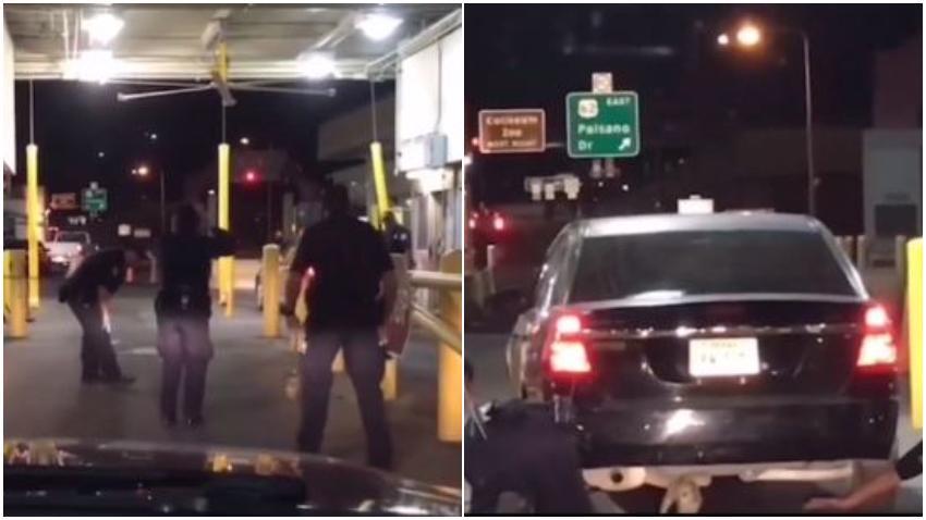 """Agentes fronterizos en El Paso luchan para impedir la entrada a Estados Unidos de un """"perrito inmigrante"""""""