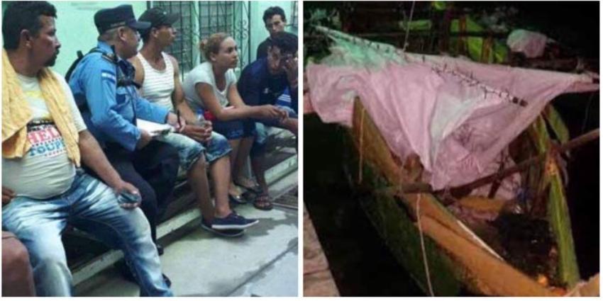 Un grupo de balseros cubanos llega a Honduras, tras 12 días navegando en precaria embarcación
