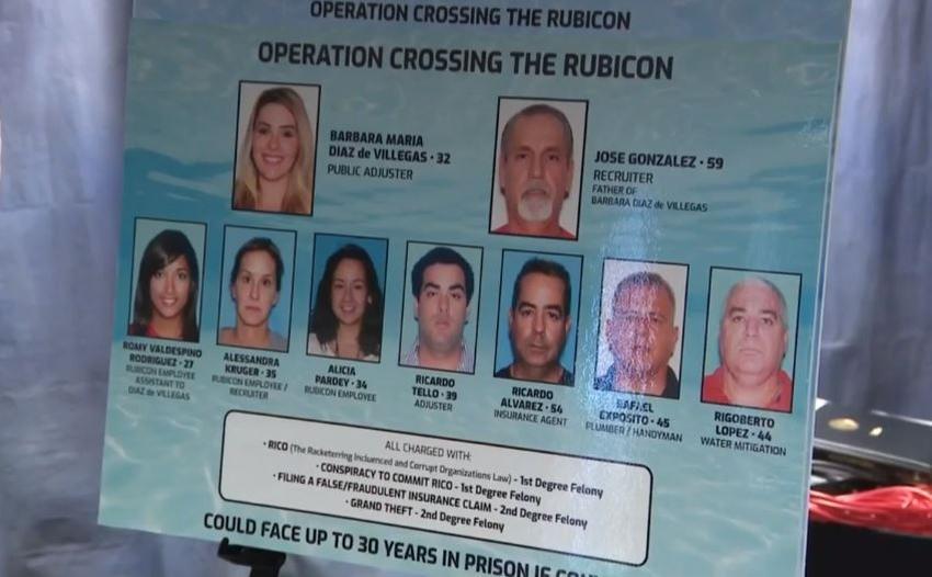 Más de treinta personas en Miami enfrentan cargos en caso de fraude de aseguradoras de viviendas