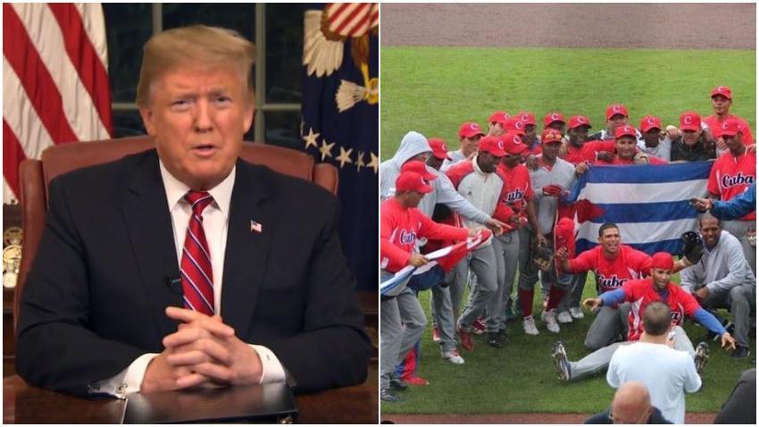 Presidente Trump cancela acuerdo de Cuba con Grandes Ligas