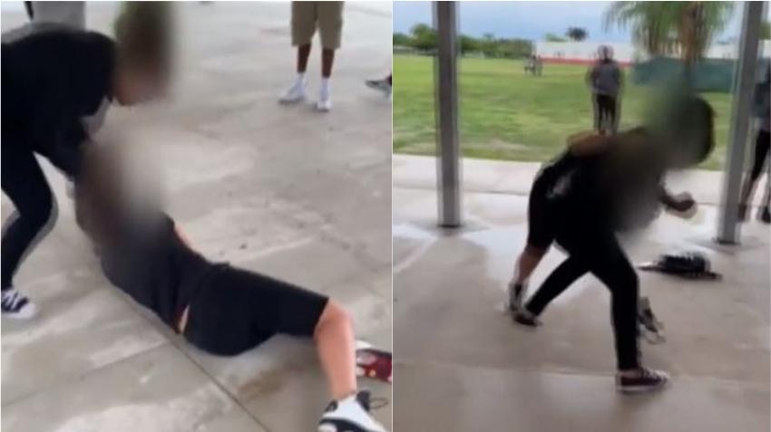 En una escuela de Miami una adolescente de 13 años es atacada por otra estudiante a quien ni conocía