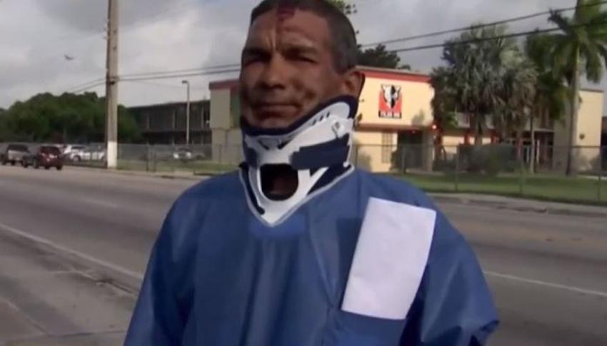 Cubano de Hialeah habla sobre como fue atropellado en su bicicleta; conductor se baja pero después se da a la fuga