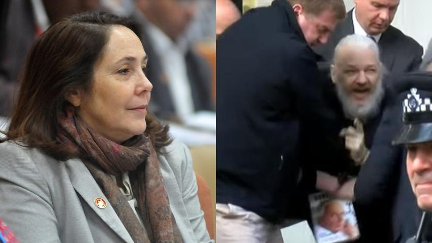 Mariela Castro pide libertad para Julián Assange