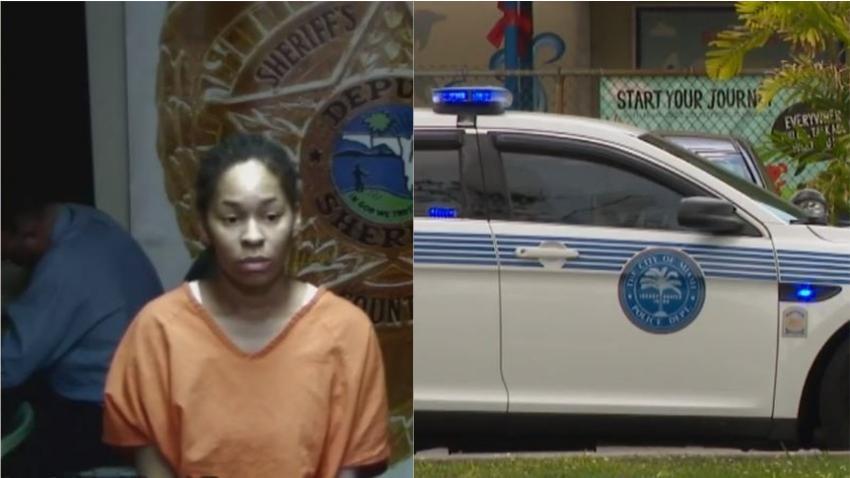 Policía de Miami arresta a una joven madre por no llevar a su hijo al hospital por una herida de bala