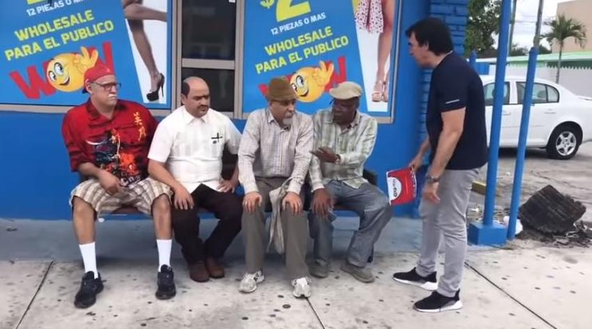 """Graban episodio de """"Vivir del cuento"""" en las calles de Miami"""