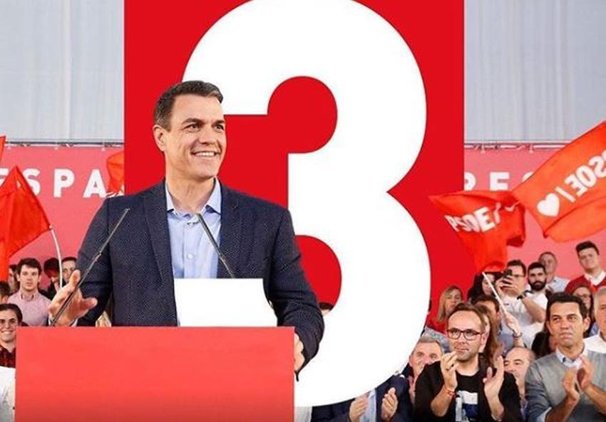 La izquierda gana las elecciones en España; el PSOE de Pedro Sánchez se lleva el triunfo y al derecha cede terreno