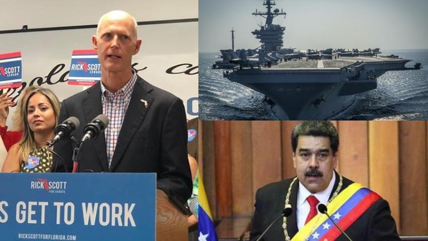 Senador Rick Scott pide a Trump considerar usar la fuerza militar contra Maduro