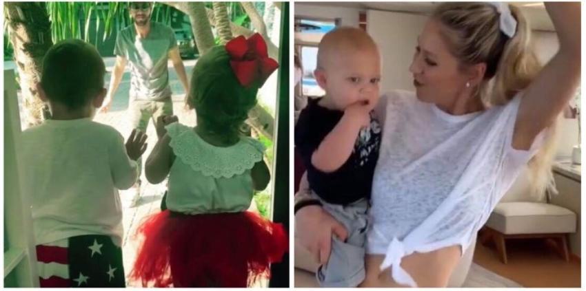 El momento más dulce de Enrique Iglesias con sus gemelos Nicholas y Lucy