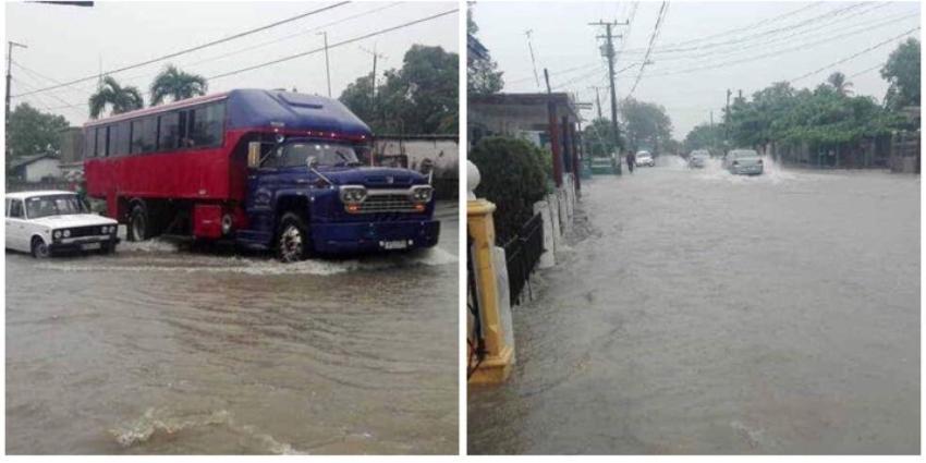 Inundaciones en Jatibonico, por intensas lluvias en todo Sancti Spíritus
