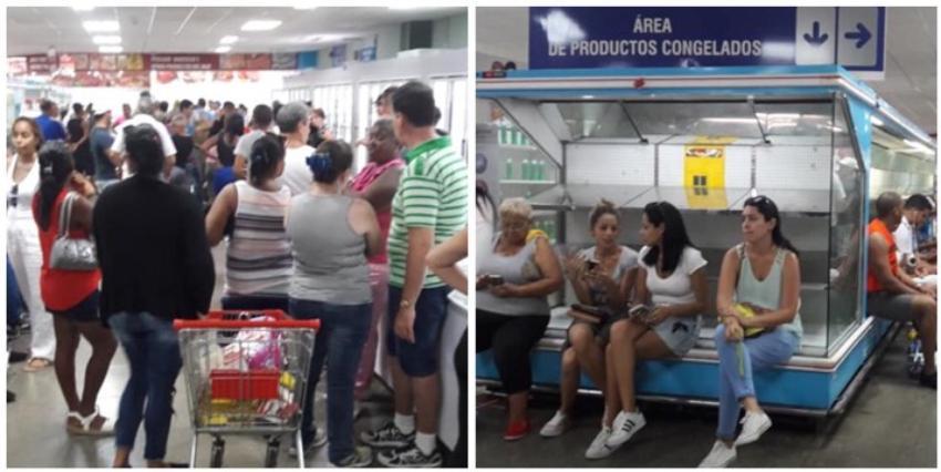 Continúan racionando los productos en las tiendas de divisas en Cuba, y las colas cada vez son más largas