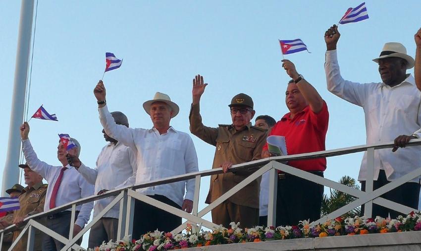 ¿Miedo y silencio? El régimen cubano no pronunció su habitual discurso durante el desfile del Primero de Mayo