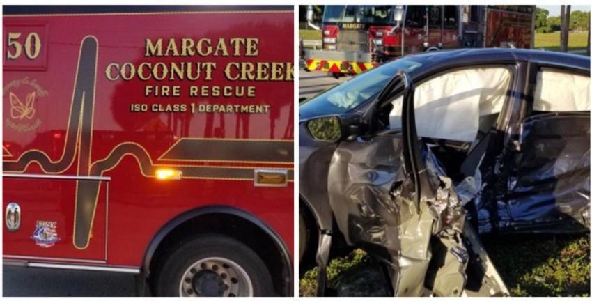 Un accidente automovilístico en Coconut Creek deja varios heridos