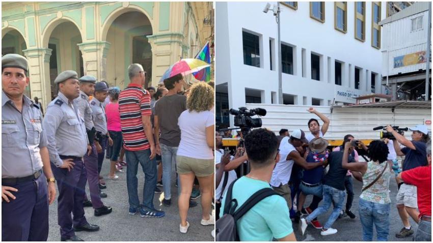 Así fueron los arrestos y el despliegue policial para impedir la marcha contra la homofobia en Cuba