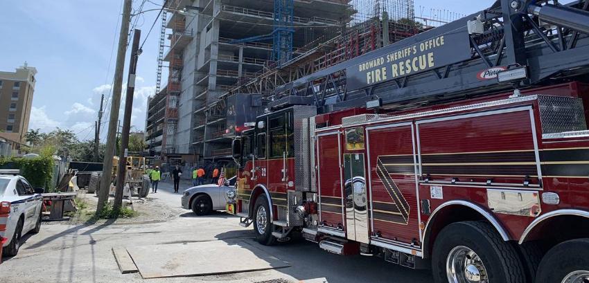 Aparece una persona muerta en un sitio de construcción en Hallandale Beach