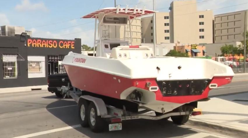 Aparece el bote de $90000 dólares robado de una casa en Hialeah, pero sin motores y otros equipos eléctricos