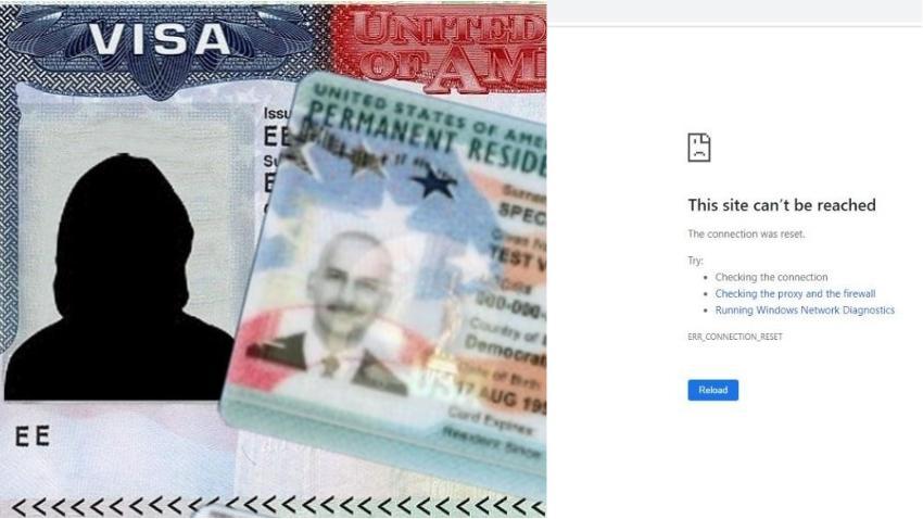 Imposible acceder el sitio web para comprobar los ganadores de la lotería de visas