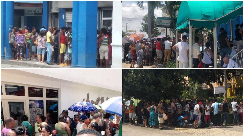 Las colas para conseguir alimentos no paran en toda Cuba