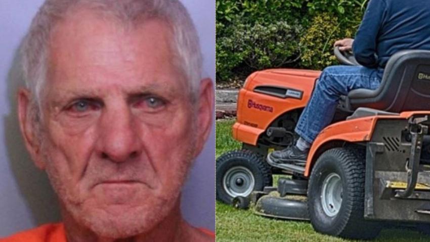 Hombre de Florida acusado de DUI por manejar una cortadora de césped y chocar contra carro de policía