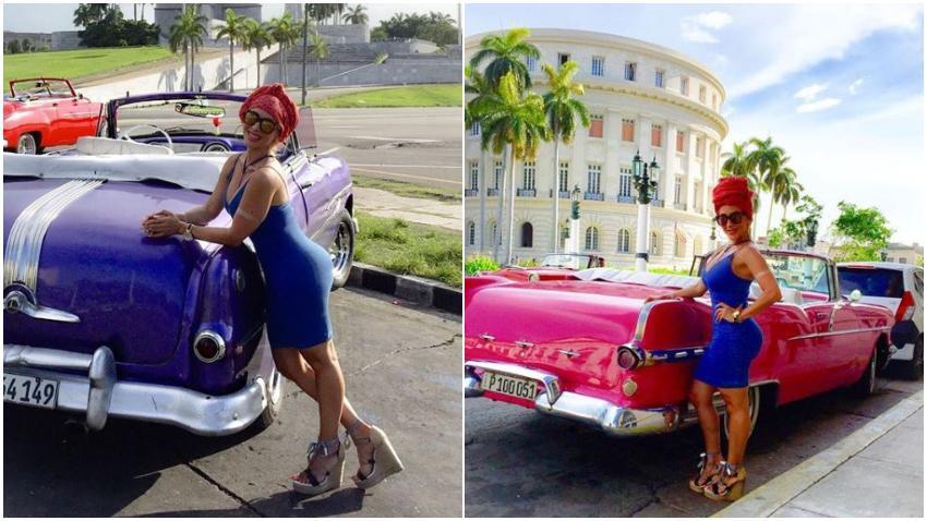 Cubana Cristian Salas, esposa de Marco Antonio Solis, orgullosa de sus raíces