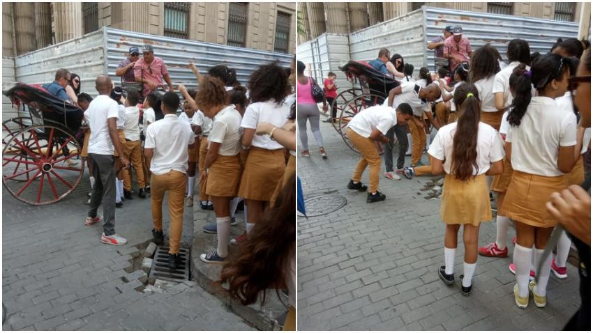 Tristes imágenes: Captan momento en que niños cubanos recogen caramelos que le lanzan los turistas