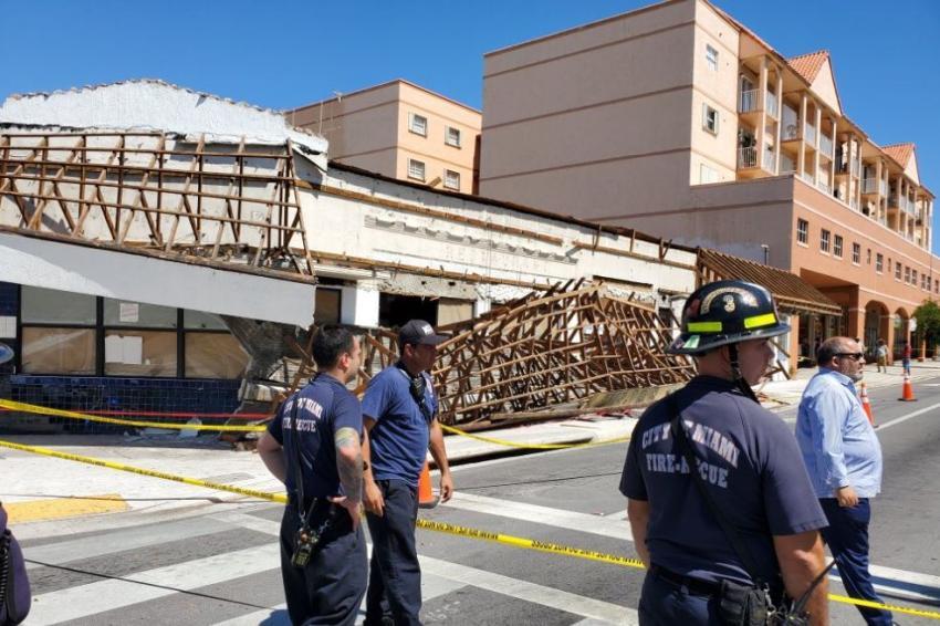 Derrumbe parcial en la Pequeña Habana deja una persona herida; autoridades piden evitar el área
