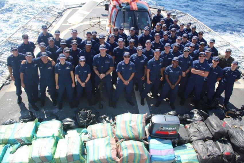 Guardia Costera en Florida decomisa cargamento con 41 millones de dólares en cocaína
