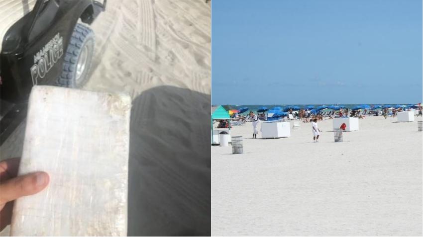 Policía de Miami Beach encuentra un paquete de cocaína a la orilla de la playa
