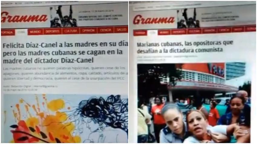 """Grupo opositor asegura haber hackeado la página web de Granma dejando el mensaje: """"Felicita Díaz-Canel a las madres en su día, pero las madres cubanas se cagan en la madre del dictador Díaz-Canel"""""""