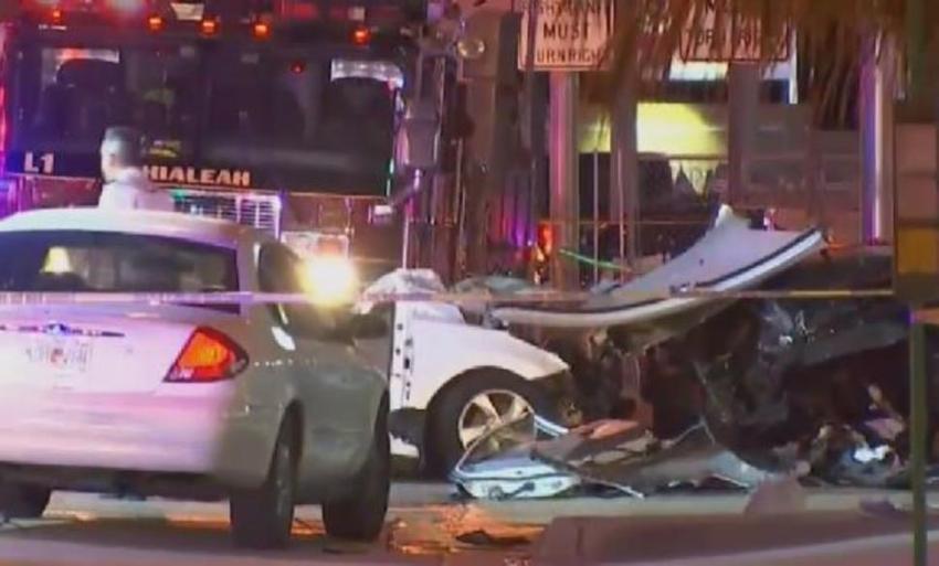 Aparatoso accidente deja un muerto y tres heridos en Hialeah