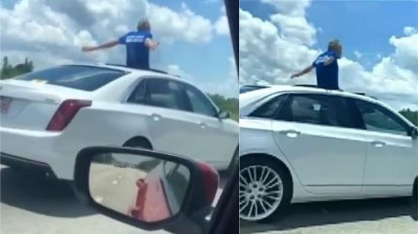 """Anciano de Florida le dice a la policía que prefiere """"ir a la cárcel"""" que con su esposa, luego que lo atrapasen en el expressway manejando con el cuerpo fuera del auto"""