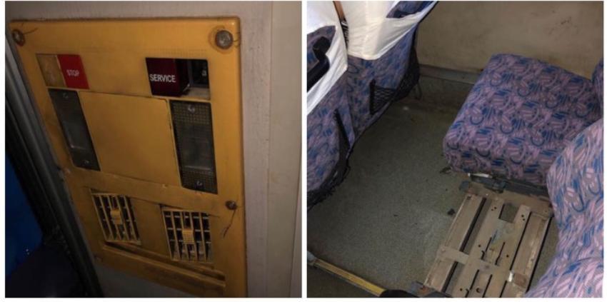 Así están los ómnibus de la estatal Viazul: suciedad, óxido y escasa ventilación para los pasajeros