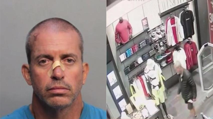 Hombre arrestado tras entrar a varias tiendas de Miami Beach y salir sin pagar, robando miles de dólares en mercancía