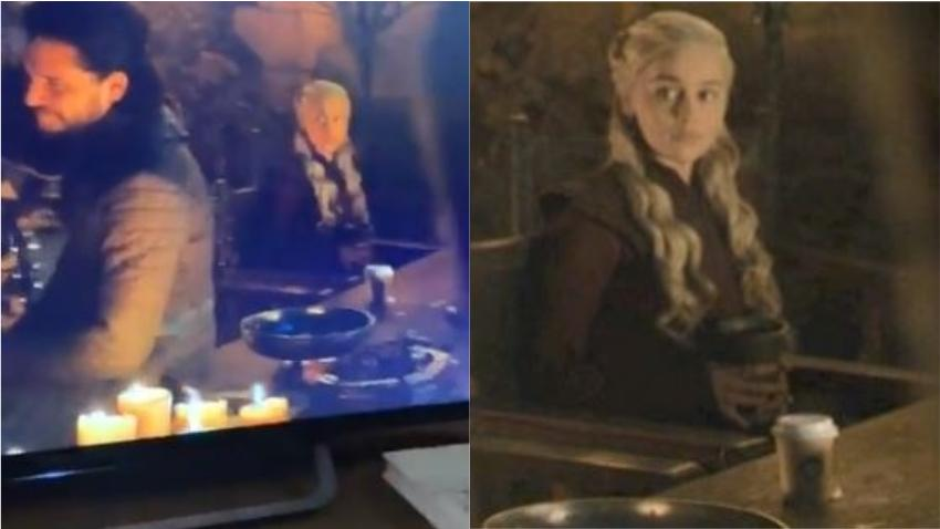 Aparece por error un vaso de café de Starbucks en episodio de «Juego de Tronos» y los fans no saben como reaccionar