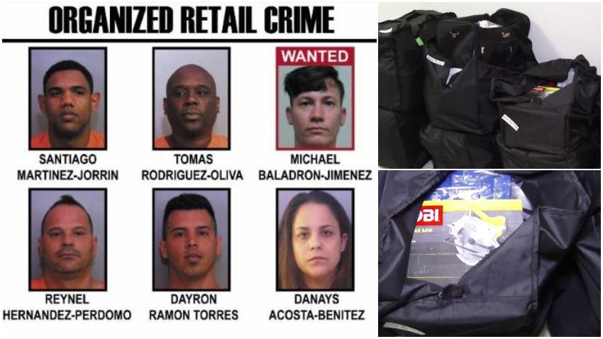 Arrestan en Florida a 5 cubanos acusados de robar cerca de 2 millones de dólares en tiendas y enviar la mercancía a Cuba