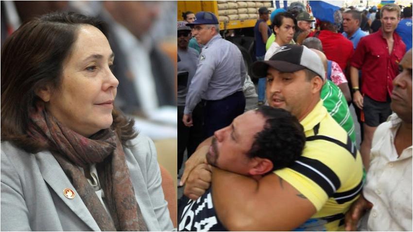 """Mientras los esbirros de la dictadura en Cuba reprimían sin piedad la marcha contra la homofobia la que hacía un """"show"""" era Mariela Castro promocionando la campaña """"Todos los derechos para todas las personas"""""""
