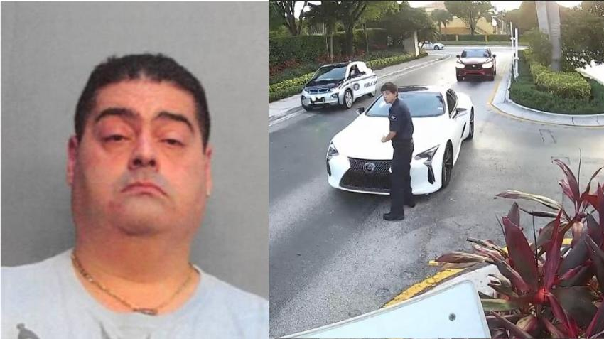 Médico de Hialeah es arrestado por golpear con su automóvil a un guardia de seguridad en el condominio donde vive en el Doral