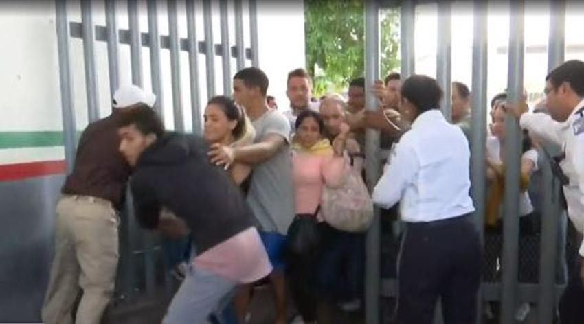Se fuga otro grupo de cubanos de la estación migratoria de Tapachula; las autoridades los persiguen para capturarlos