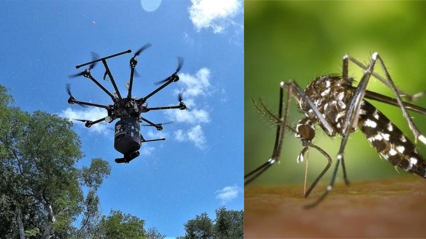 Utilizan drones para hacer pruebas de fumigación contra el Aedes Aegypti en los Cayos de la Florida