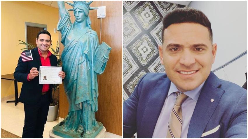 Actor cubano Mijail Mulkay se convierte en ciudadano de Estados Unidos