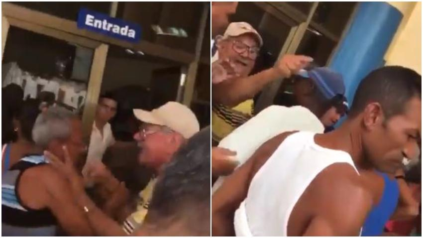 Dos ancianos se pelean en una cola en Cuba para comprar pollo