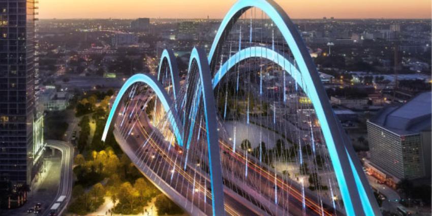 Detalles del rediseño de la autopista I-395 de Miami, con mejoras estéticas y seguridad para los peatones
